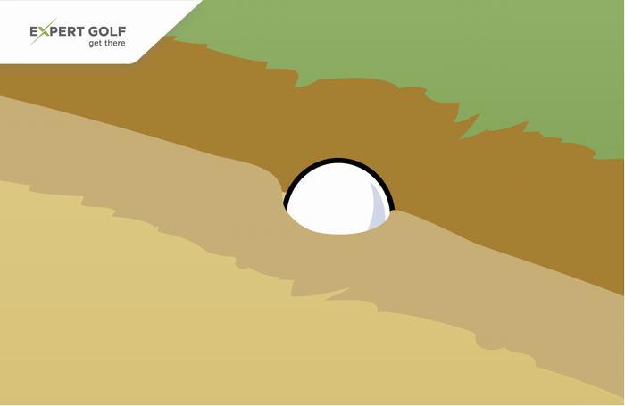 Bóng không chơi được trong bunker (Luật 19)