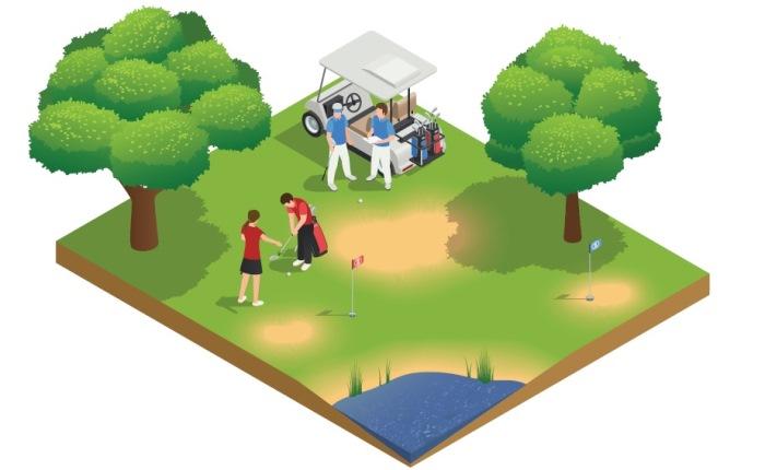 Câu chuyện sân tập golf & gậy sắt số 7